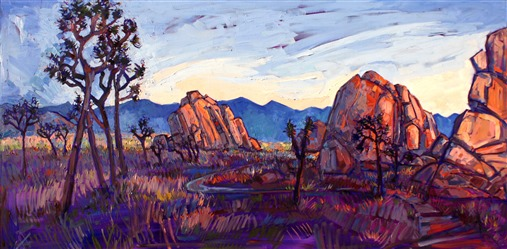 Joshua Tree National Park landscape painting by Erin Hanson