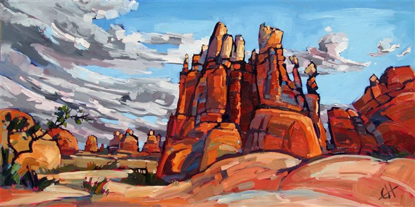 Canyonlands Castle, original oil painting by Erin Hanson