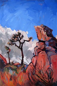 Joshua Tree National Park oil painting by Erin Hanson