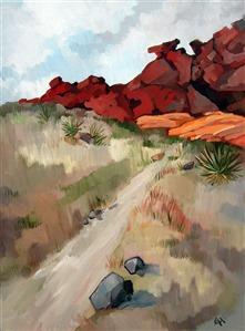 Red Rock Canyon desert oil painting by Erin Hanson