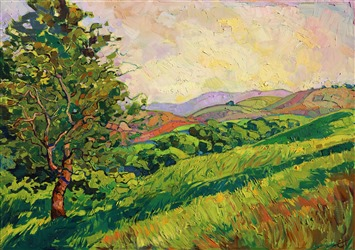 Paso Robles wine country oil painting landscape by impressionist painter Erin Hanson