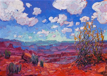 Canyonlands National Park landscape oil painting for sale by modern impressionist Erin Hanson.
