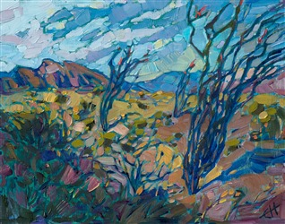 California desert super bloom painting of Borrego Springs wildflowers, by Erin Hanson