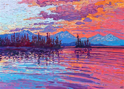 Contemporary American impressionist landscape painting by California artist Erin Hanson.
