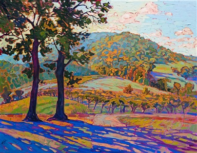 Virginia wine country oil painting landscape by impressionist Erin Hanson
