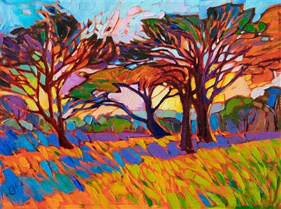 Petite oil paintings for sale by modern impressionsist Erin Hanson