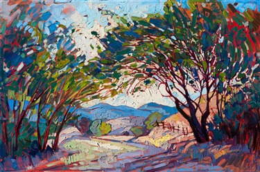 Paso Robles wine country oil painting landscape by Erin Hanson