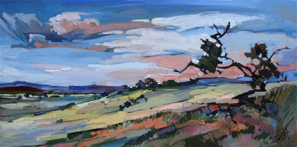Arizona Pine, emotional expressionism oil painting landscape by Erin Hanson