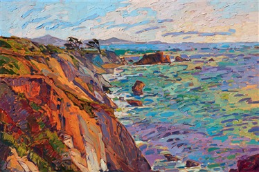 Mendocino artwork by California landscape impressionist painter Erin Hanson.