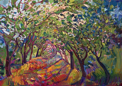 Modern Expressionist painting of Paso Robles by Erin Hanson