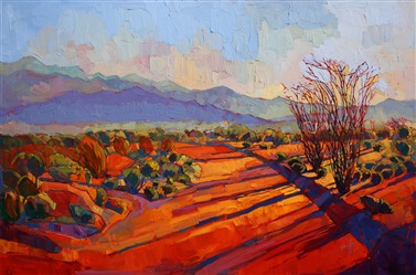 Borrego Springs desert color oil painting, by modern expressionist Erin Hanson