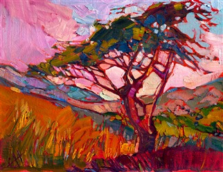 San Luis Obsipo landscape oil painting by Erin Hanson