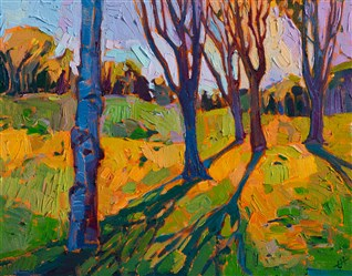 Big Canyon golf course landscape painting of Newport Beach, by Erin Hanson.