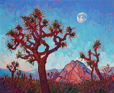 Joshua Tree National Park orignal oil painting by landscape painter Erin Hanson