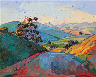 California Light, original oil painting capturing Paso Robles in thick oils, by Erin Hanson