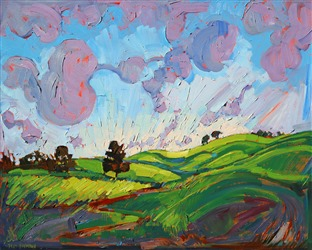 Paso Robles expressionist stylized oil painting by Erin Hanson