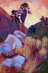 Borrego Springs palm oasis oil painting landscape in oils, by Erin Hanson