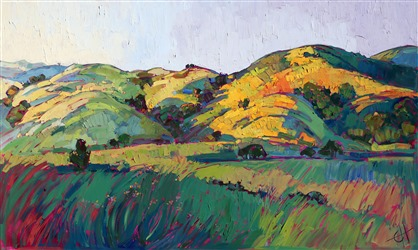 Contours of Dawn, original oil painting of Paso Robles by artist Erin Hanson