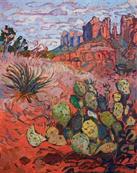 Sedona oil painting by landscape painter Erin Hanson