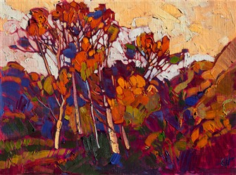 Eucalyptus Color, original oil painting by modern impressionism painter Erin Hanson.