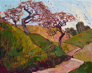 Paso Robles landscape impressionist oil painting by Erin Hanson.