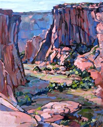 Canyon de Chelly oil painting landscape by Erin Hanson