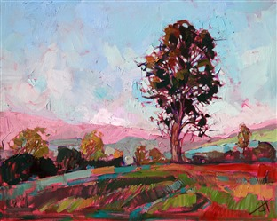 Impasto paint and subtle color variations, painted in oils by Erin Hanson