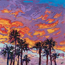 Palms Springs painting by Erin Hanson in a modern, abstract style.