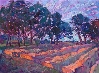 Northwest landscape oil painting by modern expressionist oil painter Erin Hanson.