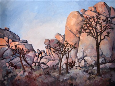 Spikey Joshua, oil painting by Erin Hanson