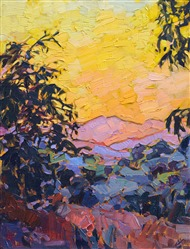 View from Adelaida Winery - Paso Robles oil painting by Erin Hanson