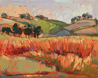 Willamette Valley Oregon landscape wine country painting by Erin Hanson