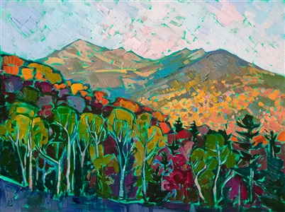 Mt Washington White Mountains oil painting landscape by impressionist Erin Hanson
