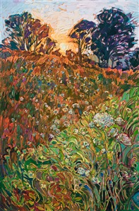 Queen Anne's Lace oil painting of Northwestern landcapes, by Erin Hanson