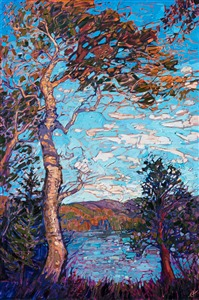 Acadia National Park landscape oil painting by modern impressionist Erin Hanson.