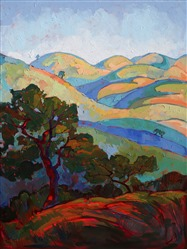 Erin Hanson creates a mosaic of color and texture with her oils.