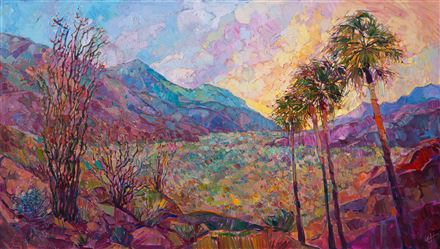 Contemporary expressionism landscape oil painting by Erin Hanson.