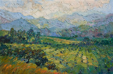 Los Olivos California Wine Country oil painting landscape by Erin Hanson