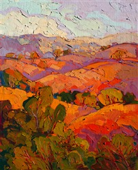 Paso Robles landscape painting by impressionism painter Erin Hanson
