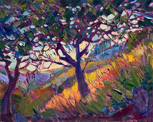 Violet Forest, original oil painting by Erin Hanson