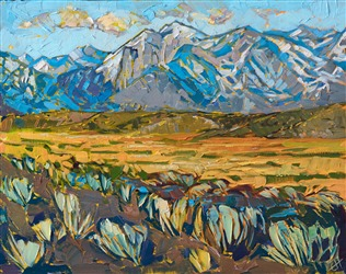 Contemporary impressionism painting of the eastern Sierras, by Erin Hanson