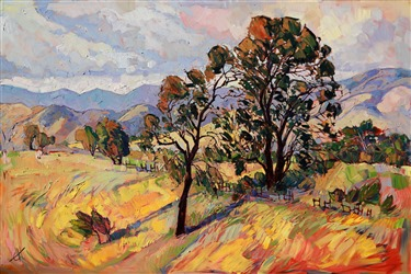Summer colors of California Wine County, painted in vibrant oils by Erin Hanson