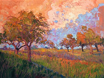 Contemporary impressionism landscape oil painting for sale by Erin Hanson