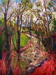 Contemporary expressionist oil painting by master oil painter Erin Hanson