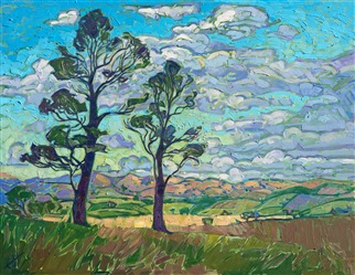 Paso Robles wine country landscape oil painting artwork by Erin Hanson