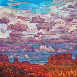 Western landscape capturing the four corners region of the southwest, original oil painting for sale by artist.