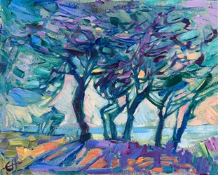 Small 8x10 oil paintings by contemporary American impressionist Erin Hanson