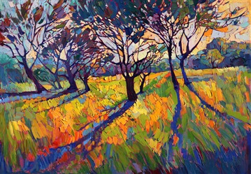 Crystal Light collection of vibrant landscape paintings, by Erin Hanson