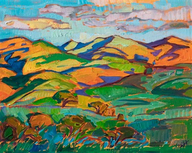 Paso Robles oil painting by California Impressionist Erin Hanson
