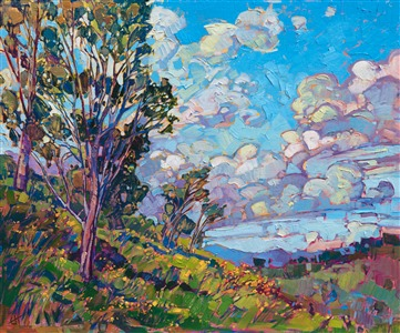 San Diego wildflowers original oil painting by modern impressionist Erin Hanson
